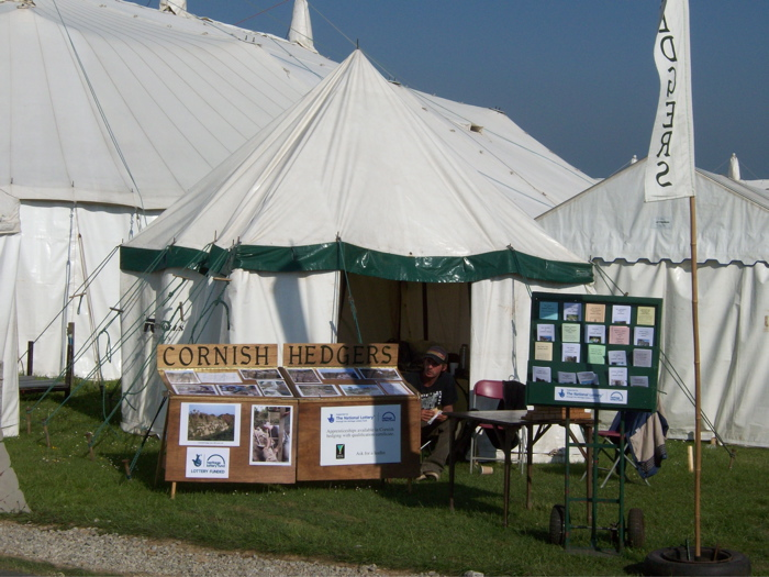 The Guild of Cornish Hedgers' stand at the annual Royal Cornwall Show.
